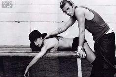 David Beckham and Victoria Beckham, GQ magazine, Photagrapher: Steven Klein