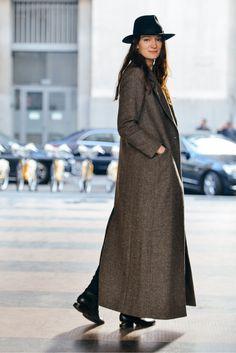 Street style de insipiración abrigos extra-largos