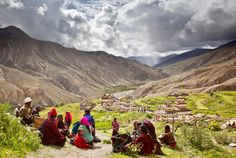People within a Landscape-Dolpo, Nepal