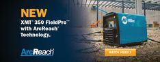 XMT FieldPro with ArcReach Technology. Watch the video. Welding Technology, Science And Technology, Miller Welders, Watch Video, Remote