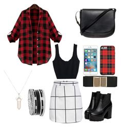 """""""Nothing But Plaid"""" by fashionkat20 ❤ liked on Polyvore featuring moda, GUESS, kiz&Co. ve Mansur Gavriel"""