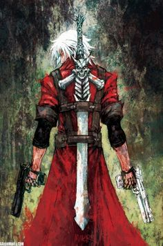 Dante (Devil May Cry) // pencils, inks and colors by Aaron Minier Video Game Characters, Anime Characters, Character Art, Character Design, Dante Devil May Cry, Castlevania, Video Game Art, Gintama, Anime Comics