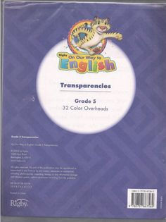 Rigby On Our Way to English Transparencies Color Overheads Grade 5 ©2004 isbn 0757867561 LA2