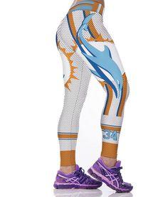 Miami Dolphins 3D Printed Leggings