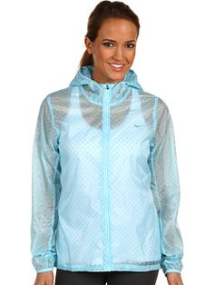 Nike Cyclone Vapor running jacket. I just bought this jacket in pink and love it! The material is very thin, breathable, and transparent, but not noisy. The fit is snug so if you like your jackets loose buy a size up. It will keep you dry while running in the rain or snow. And NO, I did not pay anything even close to this insanely expensive price, check out ebay people! :)