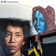 To keep up to date on the street art world in NYC check out @streetartnyc. Artists #joritagoch @joritagoch left and #leticiamandragora right.  #streetart #graffiti #art #urban #urbanart #museum #artsy #artistic #mural #documentary #instagraffiti #arts #wallporn #photooftheday #contemporaryart #picoftheday #instadaily #artwork #arte #artist #spraypaint #publicart #outdoorart #graffitiporn #instagrafite #artlife #nyc by themuseumofurbanart