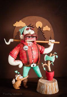 Lumberjack #cake based on a t-shirt design #talented
