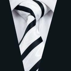 DN-1135 mens ties silk tie white necktie wedding single neckwear party business