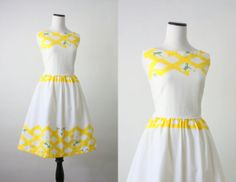 vintage 1950s daisy sundress by 1919vintage on Etsy, $115.00