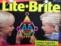 Vintage Lite Brite Electronic Toy 1993 by WylieOwlVintage on Etsy, $32.00