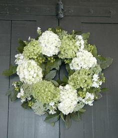 groenwitte hortensia bruiloft bloem                                                                                                                                                      More