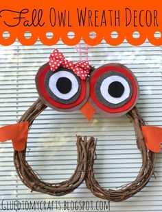 12 Fall Owl Crafts Ideas and Tutorials - Uncommon Designs