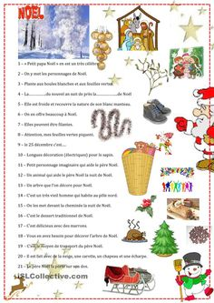 Devinettes de NoÃl Plus Noel French, French Christmas, Noel Christmas, Christmas Games, Christmas Activities, French Art, A Christmas Story, Christmas Crafts, Fun Writing Activities