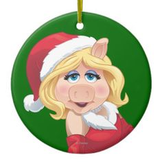 Holiday Miss Piggy 2 Ornament