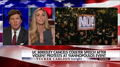 """Ann Coulter told Tucker Carlson last night that the decision to nix her planned speaking event next week at UC Berkeley will not keep her from showing up.  """"What are they going to do? Arrest me? No, I am definitely giving the speech."""" http://fxn.ws/2ouPlNY"""