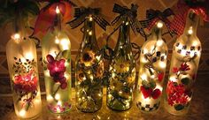 decorar botellas de vidrio con arena - Buscar con Google