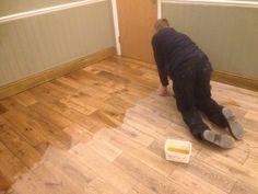 Oiling wooden floor cambridge with pallmann magic oil