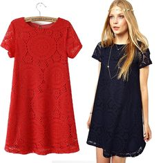 5Colors Superb! 1PC Women Short Sleeve Lace Dresses Ladies Party Loose Princess Dresses. Discover and shop the latest women fashion, celebrity, street style you love on www.zkkoo.com