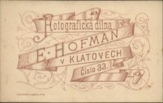 Klatovy, E.Hofmann, revers
