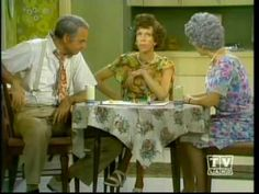 "Carol Burnett, Vicki Lawrence, Harvey Korman as Mama's Family playing ""Sorry"""