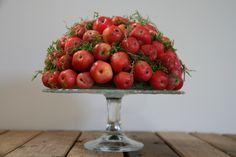 Malus-appeltjes uit eigen tuin.