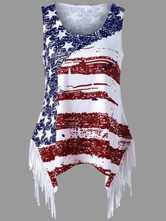 American flag print,tank top,plus size,plus size for women,plus size fashion,plus size brand,plus size tops,plus size shop,plus size fashion,women,sammydress,sammydress.com,summer outfit,  tops for women,summer tops,cheap ladies'tops,sleeveless tops,striped tops,sleeveless top,summer top