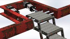 Foldable stair mechanism