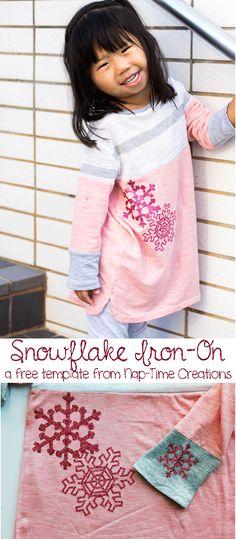 snowflake iron-on te