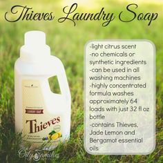 Thieves Laundry Soap + New Young Living Products from Convention + Oily Families YLEO Team Young Living Thieves, Young Living Oils, Young Living Essential Oils, Thieves Essential Oil, Bergamot Essential Oil, Love Oil, Yl Oils, Diy Cleaning Products, Living Products