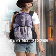 Find More Casual Daypacks Information about Leisure knapsack Elephant Printing Outdoor Backpack Student School bags unisex with iPhone iPad pocket free shipping BBP107,High Quality bag solar,China bag of rose petals Suppliers, Cheap bag paper from Culture Clubs on Aliexpress.com