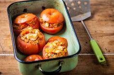Adam Byatt's turkey-stuffed tomatoes