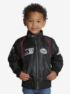 Members Only Disney Pixar Cars Black Racer Toddler Jacket, BLACK