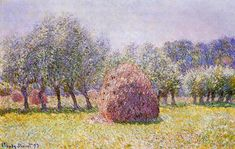 Haystack Artwork By Claude Oscar Monet Oil Painting & Art Prints On Canvas For Sale Monet Paintings, Impressionist Paintings, Landscape Paintings, Acrylic Paintings, Landscapes, Claude Monet, Edgar Degas, Pierre Auguste Renoir, Artist Monet
