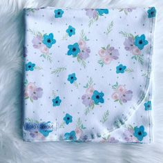 Baby swaddle / floral swaddle / newborn swaddle blanket / girl swaddle / swaddle set / headband OR beanie Baby Swaddle Blankets, Snuggles, Cuddling, Little Ones, Beanie, Comfy, Floral, Etsy, Fashion