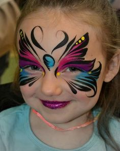 Girl Face Painting, Face Painting Tips, Face Painting Tutorials, Painting For Kids, Easy Face Painting Designs, Mermaid Face Paint, Butterfly Face Paint, Face Paint Makeup, Eye Makeup