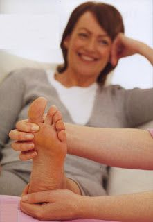 Reflexology Live: From the moment the reflexologist's hands start their work, the relaxation—and more—begins.