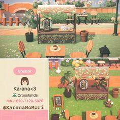 r/ACQR - Rustic ivy stall design for an earthy feel! Animal Crossing Guide, Animal Crossing Qr Codes Clothes, Motif Acnl, Ac New Leaf, Motifs Animal, Animal Games, Island Design, Manga, Earthy