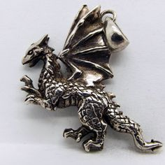 Sterling Silver (.925) Dragon Pendant / Charm 6.2g #Pendant http://www.ebay.com/itm/Sterling-Silver-925-Dragon-Pendant-Charm-6-2g-/171608320231?ssPageName=STRK:MESE:IT