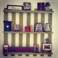 From ugly old wood pallet to fun decoration!! Just sand down a little, paint and display!