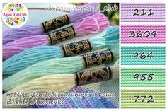 Risultati immagini per dmc thread gradient example Thread Bracelets, Diy Bracelets Easy, Embroidery Bracelets, Dmc Embroidery Floss, Types Of Embroidery, Cross Stitch Thread, Cross Stitch Embroidery, Color Blending, Color Mixing