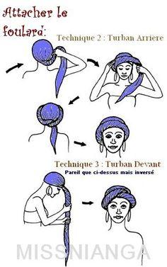 tie a turban - hair style Tie A Turban, Turban Style, Wimpy Kid Books, Baby Hut, Hair Wrap Scarf, Scarf Bun, Moda Hippie, Head Scarf Styles, African Head Wraps