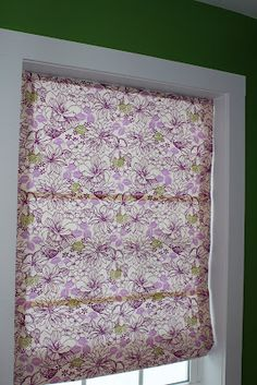 Roman shades from mini blinds