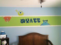 Wyatt's monsters inc bedroom