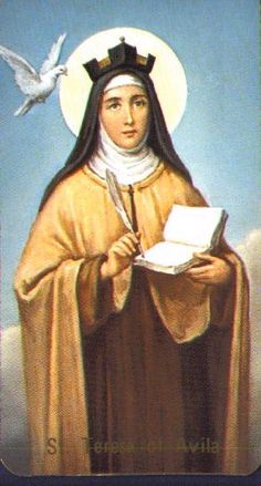 Teresa of Avila - Saints & Angels - Catholic Online Catholic Online, Catholic Art, Catholic Saints, Patron Saints, Roman Catholic, Catholic Memes, Religious Images, Religious Icons, Religious Art