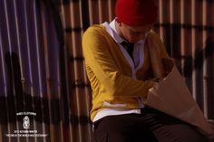 Yellow Cardigan + Knitted Hat by Ribs Macao