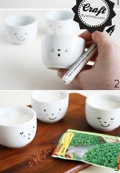 Sketch a cute design onto white teacups using a ceramic marker, then bake to set it. 55 Incredibly Clever DIYs You'll Actually Want To Try Diy Arts And Crafts, Cute Crafts, Crafts To Make, Crafts For Kids, Clever Diy, Cool Diy, Easy Diy, Do It Yourself Projects, Diy Gifts