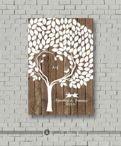 Guest Book  Wedding Guestbook  Wedding Tree  by lemonANDlimeStudio, $52.00