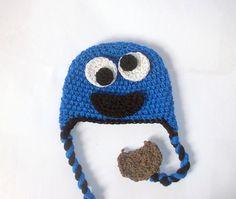 Monster Hat CROCHET PATTERN Cookie Monster Hat by PatternStudio1, $2.99
