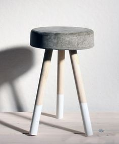 concrete bucket stool