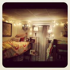 Monograms are perfect for a dorm room
